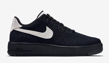 Nike Air Force 1 Low Flyknit Black Metallic
