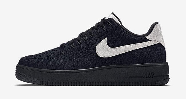 nike air force 1 ultra flyknit basso nero argento metallico sneakerfiles