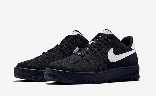 pretty nice 9d2c8 984fd Nike Air Force 1 Ultra Flyknit Low Black Metallic Silver ...