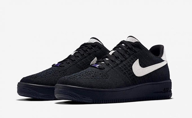 Nike Air Force 1 Ultra Flyknit Black Metallic Silver