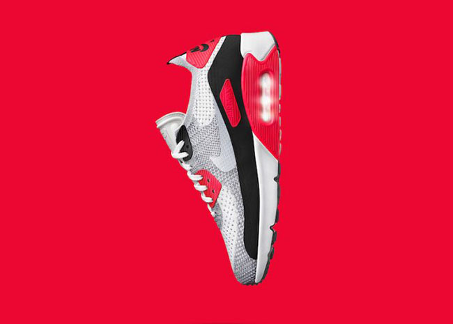 NIKE Air Max 90 Ultra 2.0 Flyknit Infrared OG Sneakers