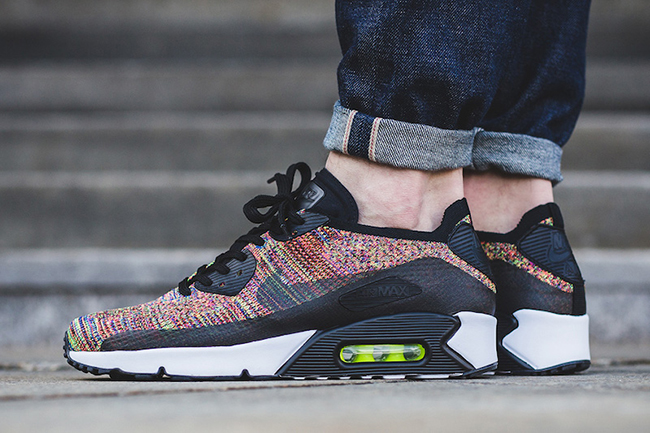 air max 90 ultra 2.0 flyknit on feet