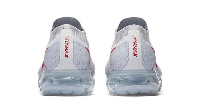 Nike Air VaporMax Flyknit Pure Platinum University Red