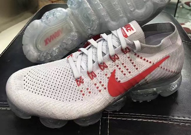 82affa14a1a4 Nike Air VaporMax Flyknit Pure Platinum University Red