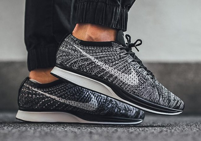 the latest aee2f 309af Nike Flyknit Racer Oreo 2.0 On Feet