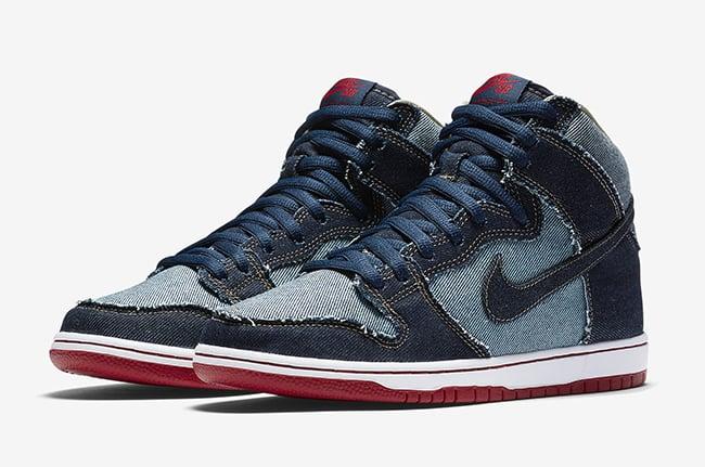 reputable site ac65e 5c561 Nike SB Dunk High Denim Release Date | SneakerFiles