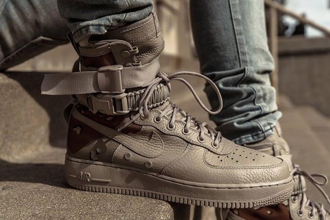 Nike SF-AF1 Desert Camo On Feet