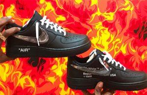 Off-White Nike Air Force 1 Low Black Metallic Silver