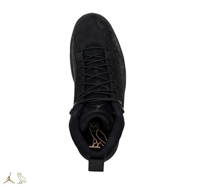 OVO Air Jordan 12 Retro Black Release