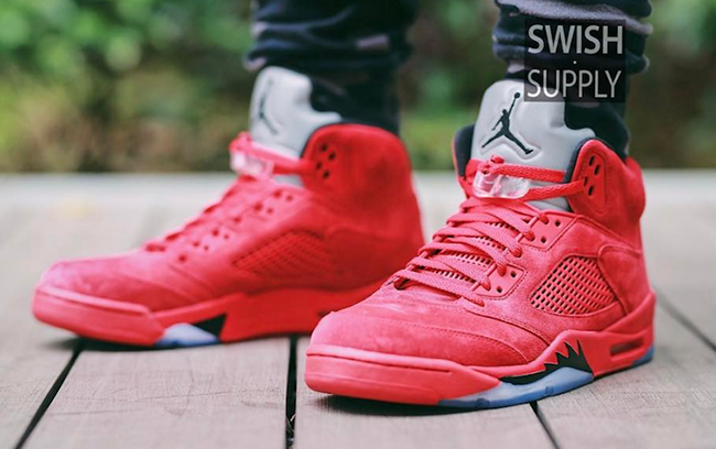 Air Jordan 5 Prime Daim Rouge
