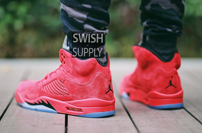 Air Jordan 5 Røde Semsket Anmeldelser ynZrm