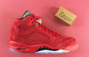 Red Suede Air Jordan 5 University Red