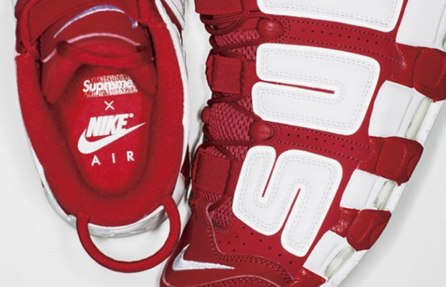 finest selection 58a20 d55b8 Red Supreme Nike Air More Uptempo