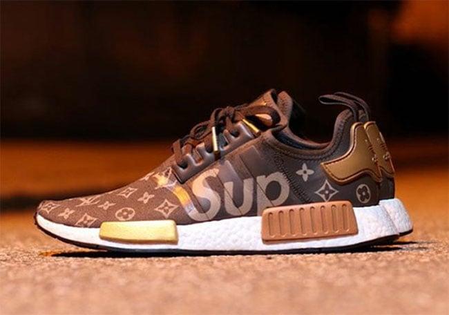 Supreme Louis Vuitton Adidas Nmd Custom Sneakerfiles