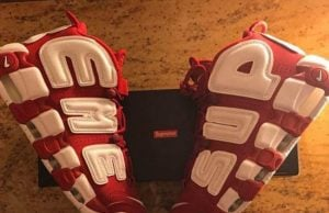Supreme x Nike Air More Uptempo Red White
