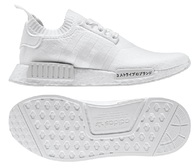 Adidas Nmd R1 Primeknit Japan Triple White Black Sneakerfiles