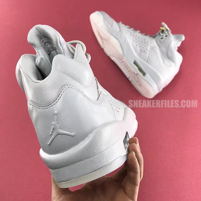 Triple White Air Jordan 5 Take Flight