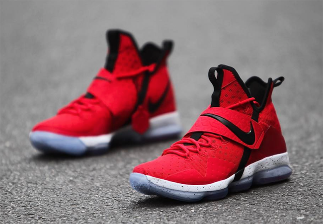 University Red Nike LeBron 14