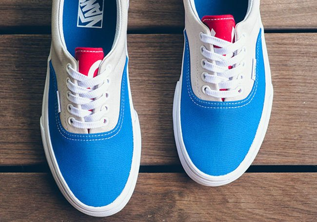 red white and blue vans