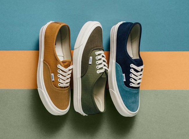 Vans Vault OG Authentic LX Cumin Olive Blue