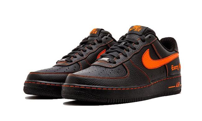 Nike Air Force 1 Orange And Black