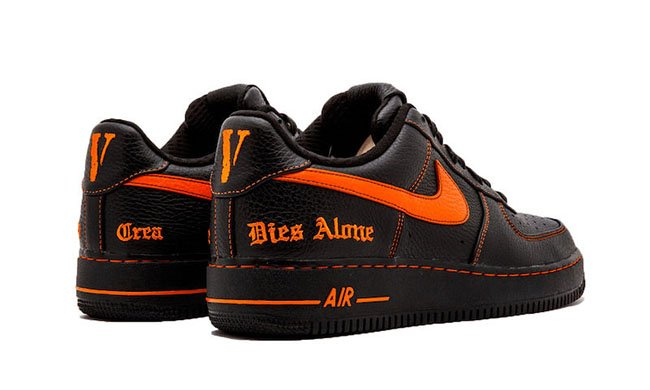 nike air force 1 low black orange