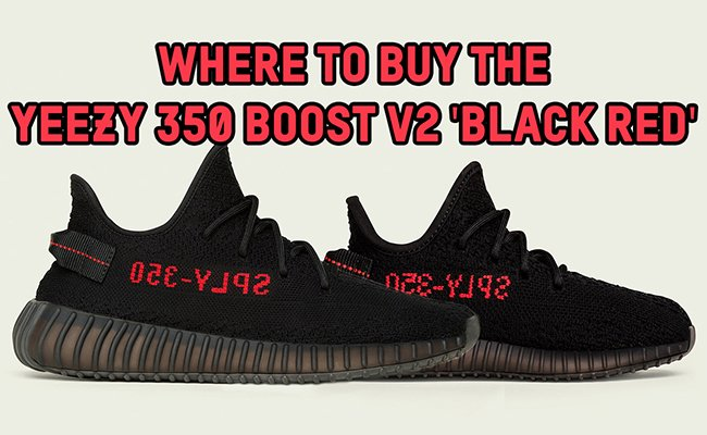 Adidas Yeezy Boost 350 v2 \\\\ u u 26 Black / Red / Core Black