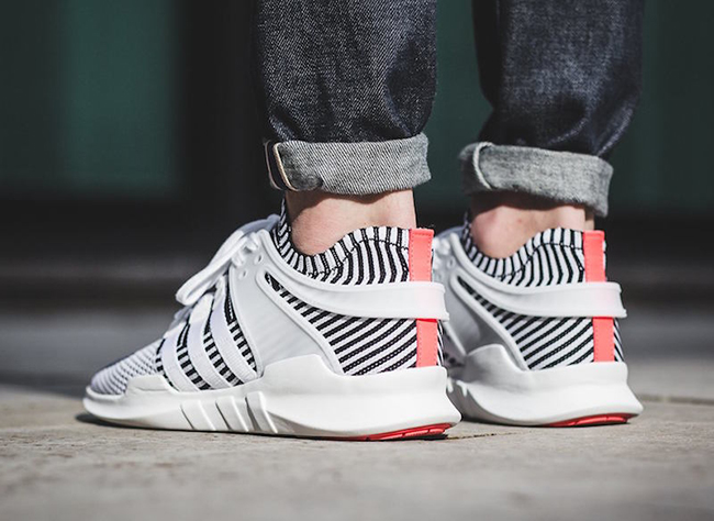 adidas EQT Support ADV Primeknit Zebra On Feet