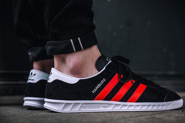adidas Hamburg Core Black Red BB5300 | SneakerFiles