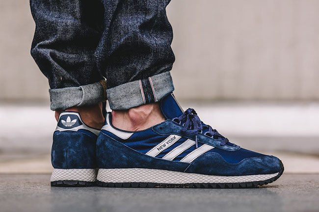 adidas New York Dark Blue Matte Silver