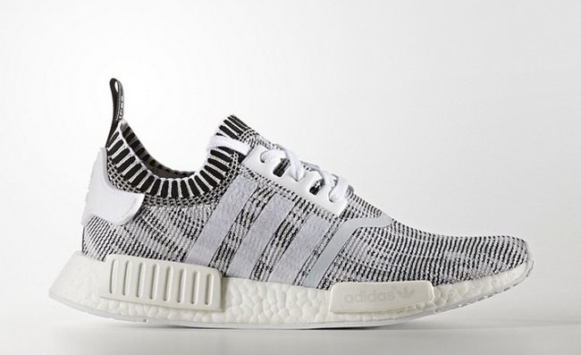 Adidas Nmd R1 Primeknit Glitch Camo White Black By1911 Sneakerfiles