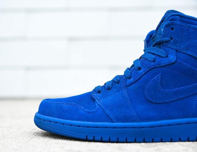 reputable site 1e4b7 af88b Air Jordan 1 Blue Suede 332550-404 Release Date | SneakerFiles