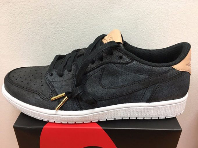 Air Jordan 1 Low OG Premium Black Vachetta Tan