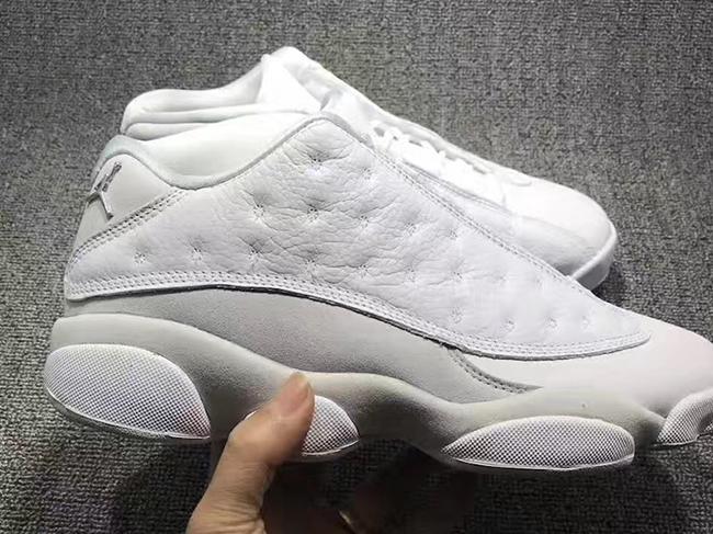 Air Jordan 13 Low Retro White Metallic Silver Pure Platinum