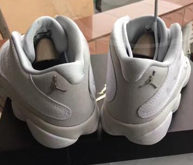 Air Jordan 13 Low White Metallic Silver Pure Platinum