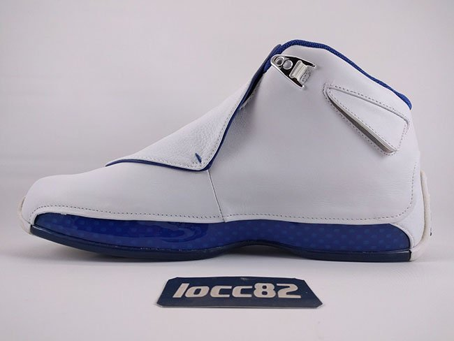 Air Jordan 18 Retro 2017 White Sport Royal Blue