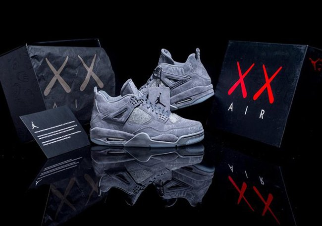 the latest 09a30 4b0f2 KAWS Air Jordan 4 Cool Grey 930155-003 Release Info ...
