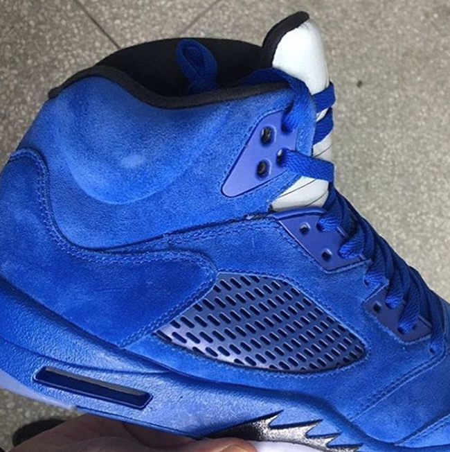 Air Jordan 5 Blue Suede 2017