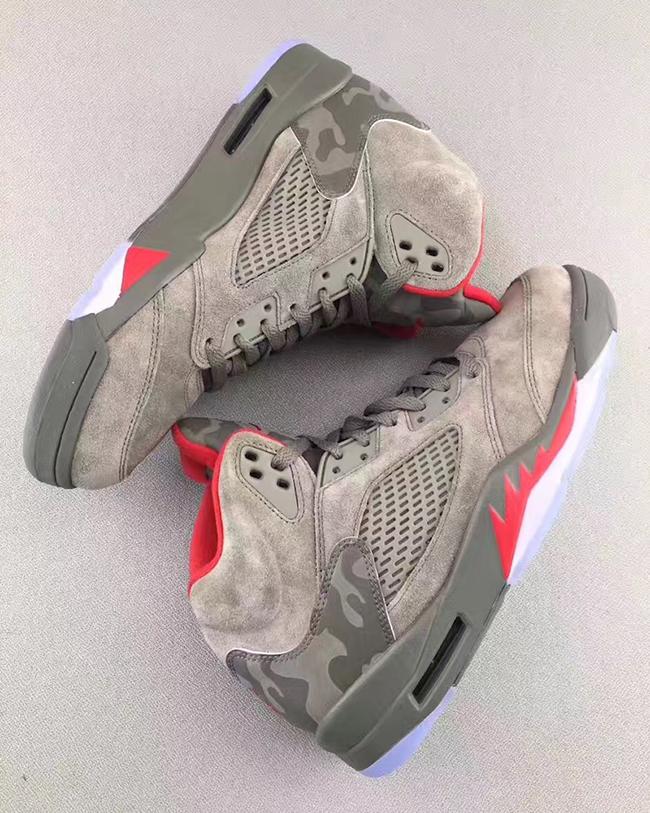 Air Jordan 5 Reflective Camo Release