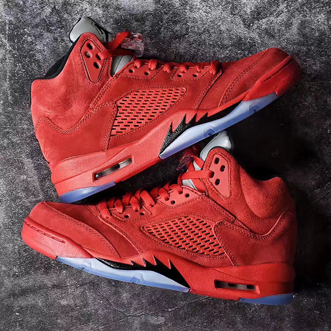 Air Jordan 5 University Red Suede