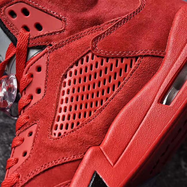 Air Jordan 5 University Red Suede