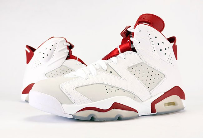 innovative design 6467b 9702f NEW Cheap Air Jordan 6 Retro VI Alternate White Pure Platinum Gym Red  384664-113