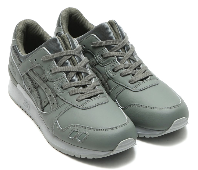 Asics Gel Lyte III Leather Pack Latte Agave Green SneakerFiles  SneakerFiles