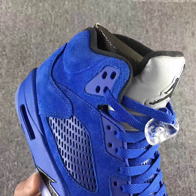 Blue Suede Air Jordan 5 Retro
