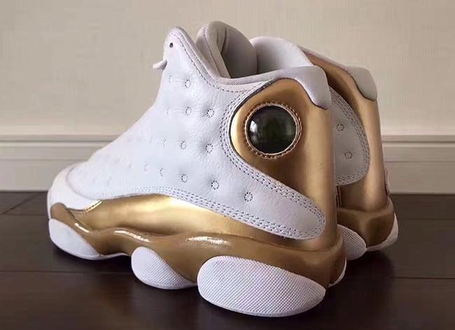 DMP Air Jordan 13 White Gold