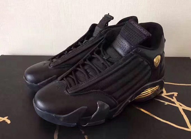 DMP Air Jordan 14 Black Gold