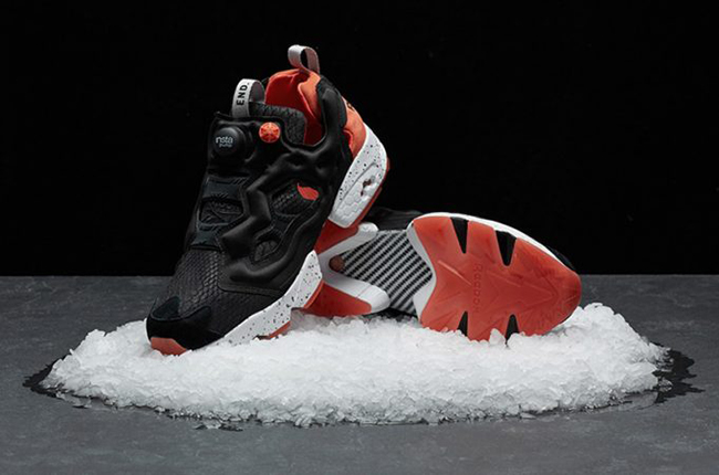 END x Reebok Insta Pump Fury Black Salmon Release Date