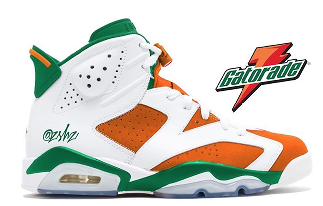 Wonderful Gatorade Air Jordan 6 2017