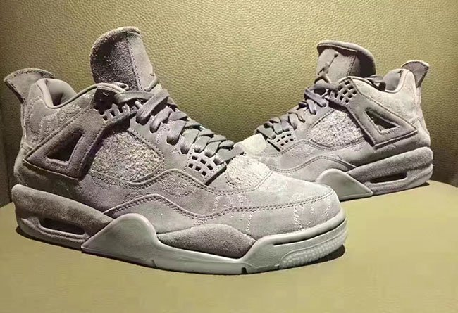 KAWS Air Jordan 4 Grey Suede March 2017