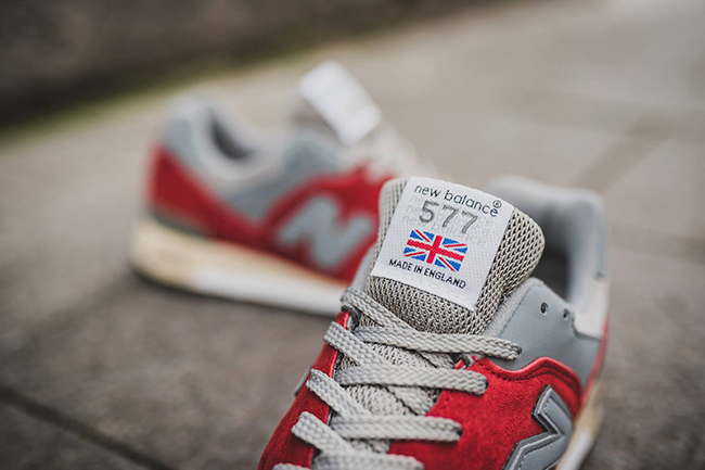 New Balance 577 Made in England Red Grey
